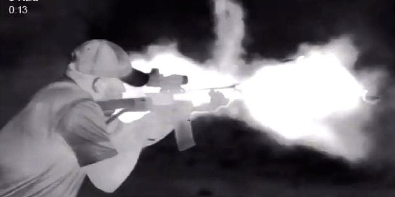 Ever Wonder What a Full-Auto SBR Firing Looks Like Through a Pulsar Thermal?