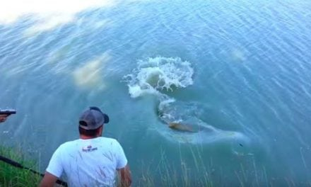 Well, This is One Way to Land a Big Alligator Gar in Texas