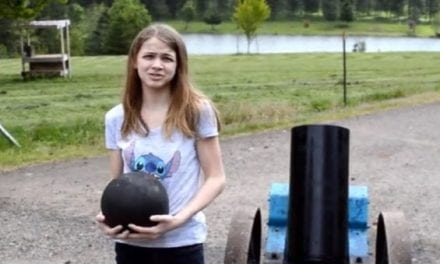 7th-Grader Shoots Bowling Ball From Black Powder Cannon