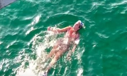 Video: Is This Lady Swimming Under a Fishing Pier Drunk?