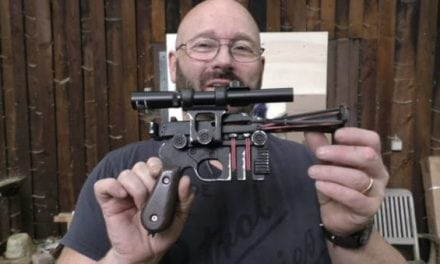 Video: The Slingshot Channel Guy Built a Replica of Han Solo's Blaster From Star Wars