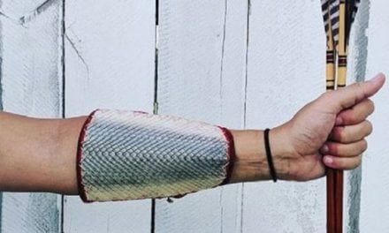 Pics: Creative Huntress Constructs Archery Arm Guard Out of Gar Skin