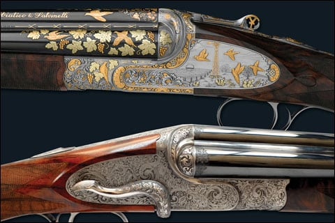 The spectacular engraving of Famars Shotguns