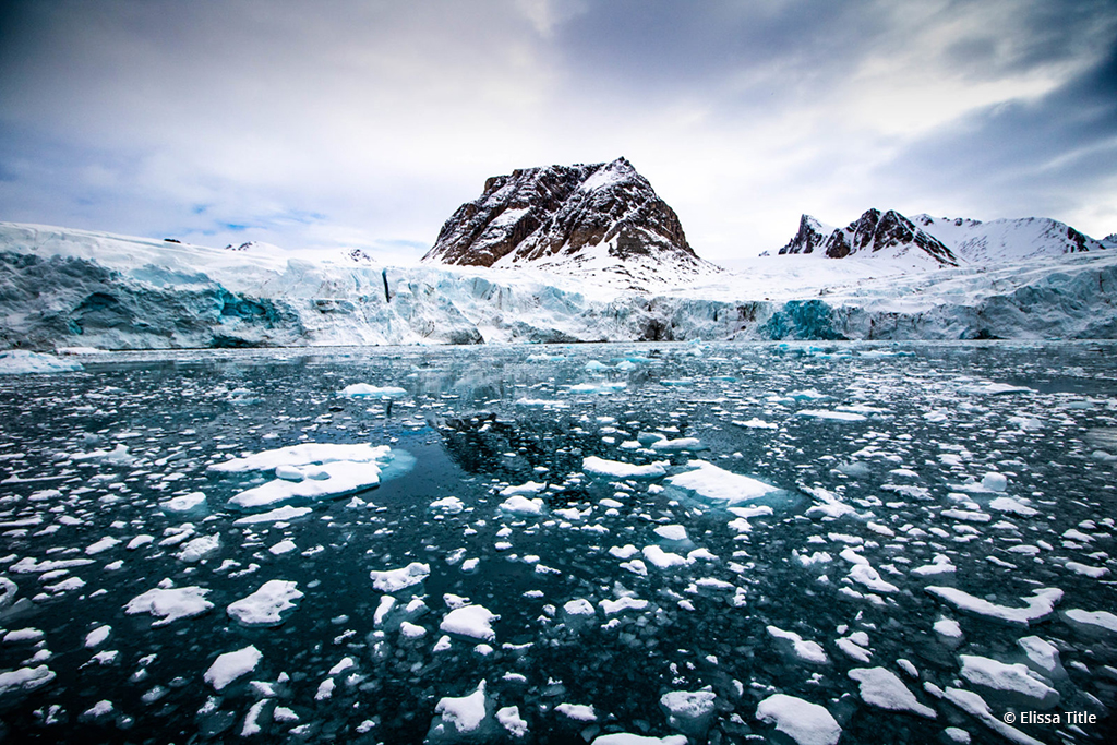 """Congratulations to Elissa Title for winning the Go Wide Up Close Photography Assignment with the image, """"Smeerenburg Glacier."""""""