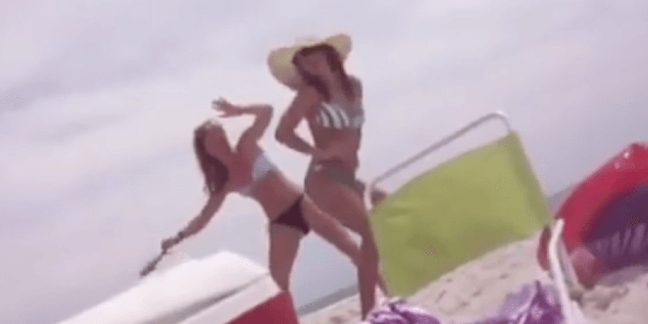 Video: Girl Stabs Friend in the Rear With a Catfish