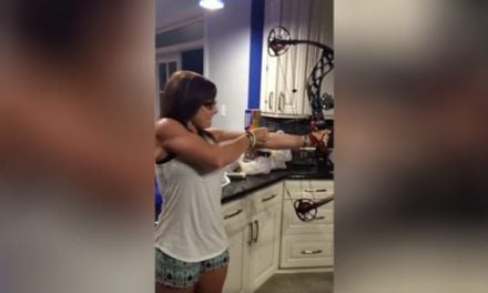 Video: Man Foolishly Sticks Head Inside Bow at Full Draw