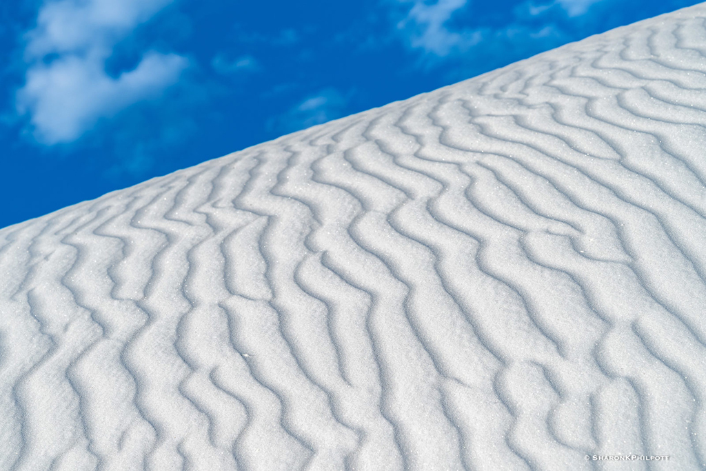 "Today's Photo Of The Day is ""Sand Dunes"" by Sharon Philpott. Location: White Sands National Monument, New Mexico."