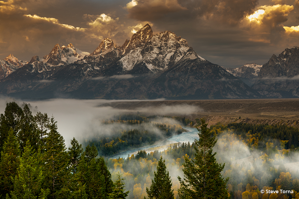 """Today's Photo Of The Day is """"Morning Majesty"""" by Steve Torna. Location: Snake River Overlook, Grand Teton National Park, Wyoming."""