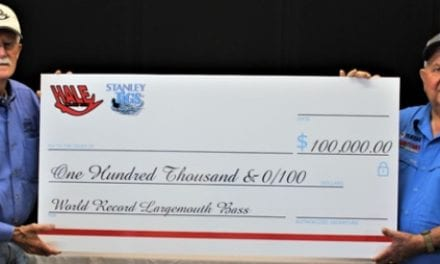 Stanley Jigs/Hale Lures Promotes $100K for New World Record Largemouth