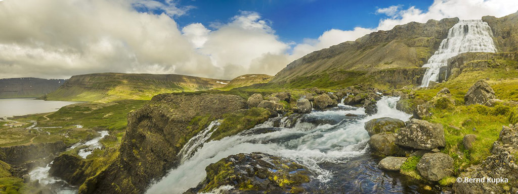 "Today's Photo Of The Day is ""Dynjandi Falls Panorama"" by Bernd Kupka. Location: Westfjords, Iceland."
