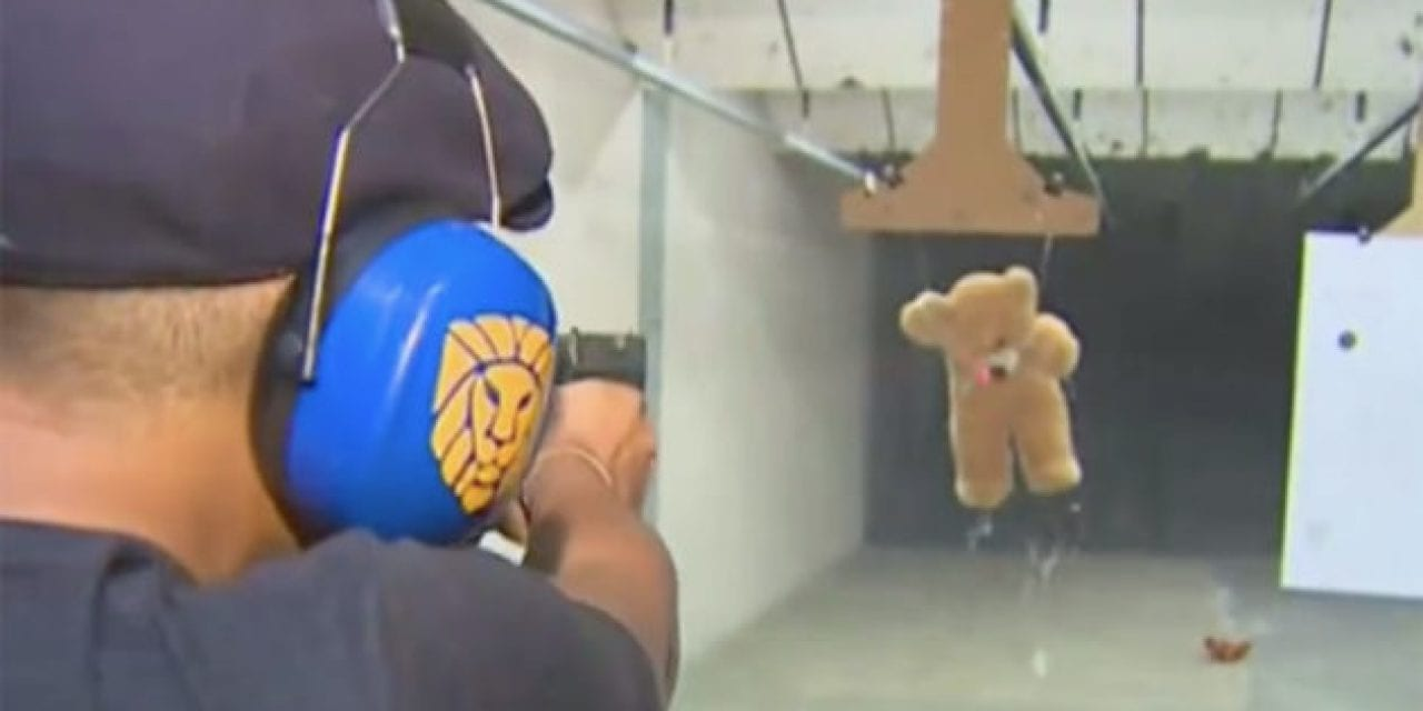 This Gun Range Has the Right Idea for Valentine's Day: Shooting the Stuffing Out of a Teddy Bear