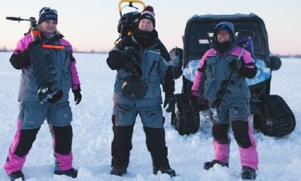 Women Ice Angler Project on Lake Superior's Chequamegon Bay