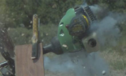 What Happens When You Shoot a Weed Eater With a Shotgun Slug?