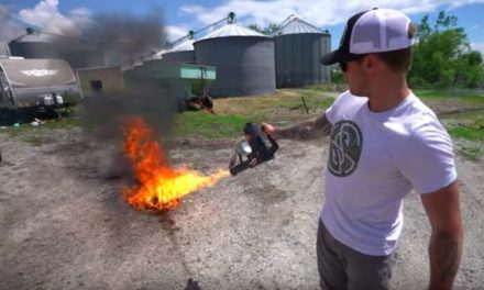Can You Really Cook an Egg With a Flamethrower?