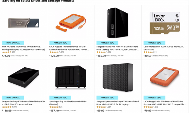 Amazon Prime Day:	Get More Storage