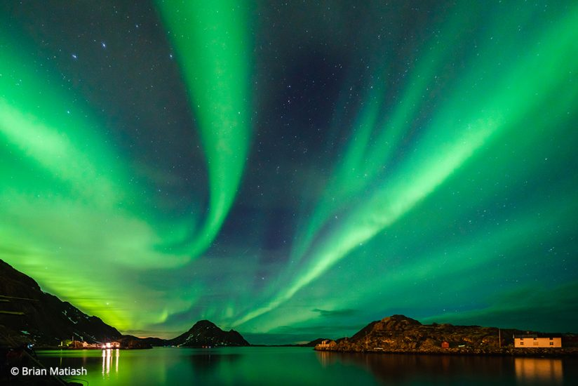 aurora photos, a typical image of the northern lights