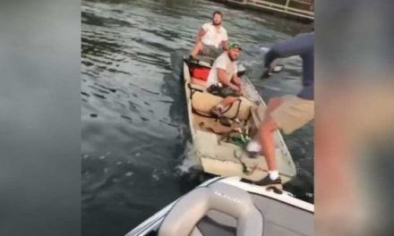 University Fishing Team Pair Gets Their Boat Rammed on Fort Cobb Lake
