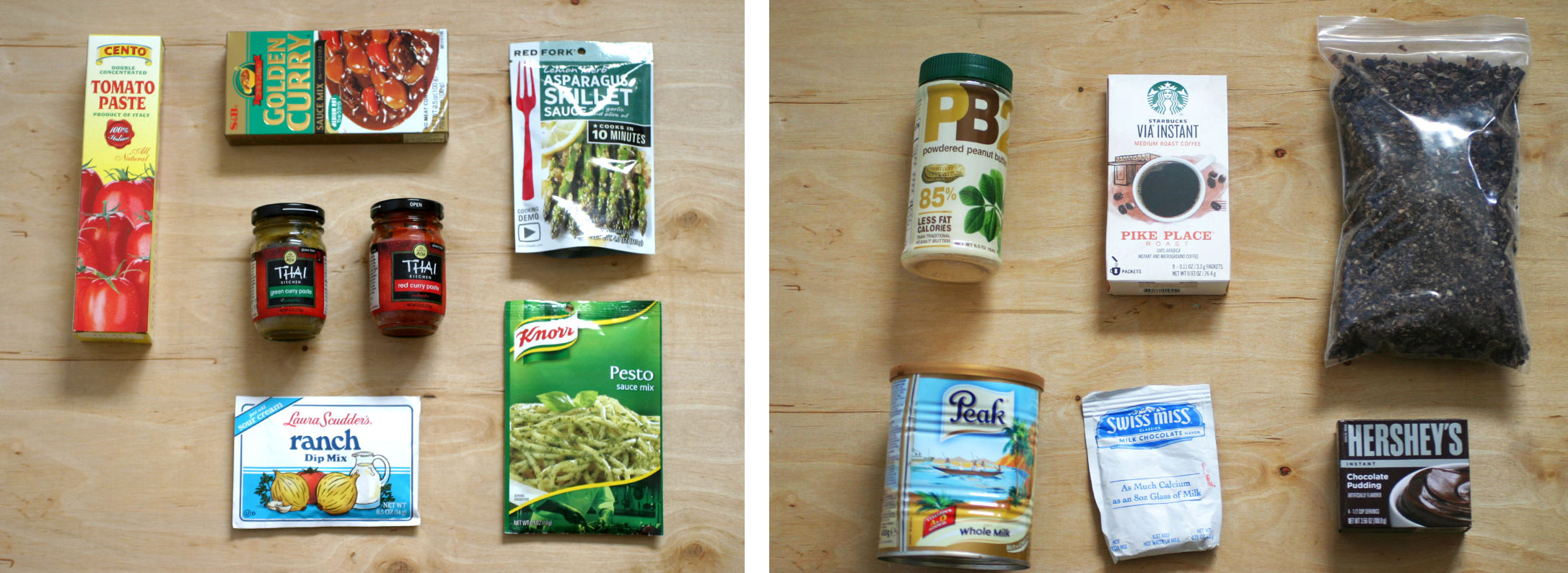Grocery Backpacking Food Flavors