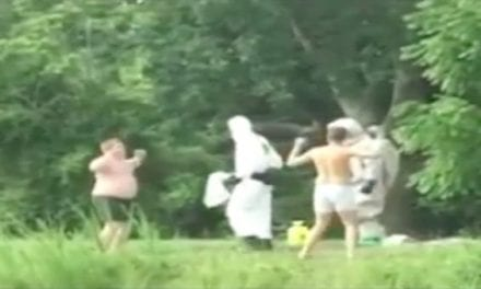Here's One Way to Deal With Trespassers at Your Fishing Pond