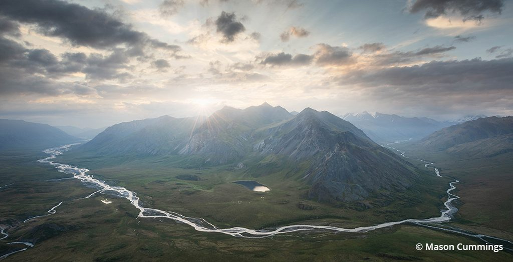 Aerial view of Arctic National Wildlife Refuge
