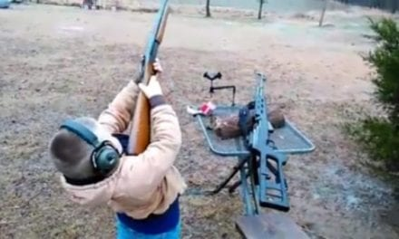 Young Shooter Feels the Kick of a 12-Gauge But Isn't Fazed