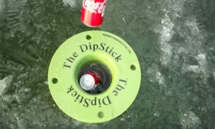 The Dipstick Beverage Cooler Keeps Drinks From Freezing While Ice Fishing