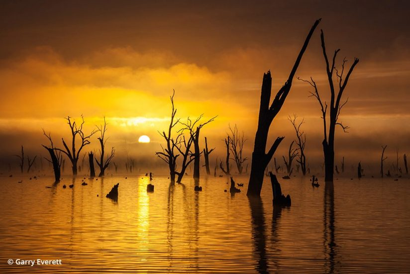Photo of a sunset at Lake Mulwala