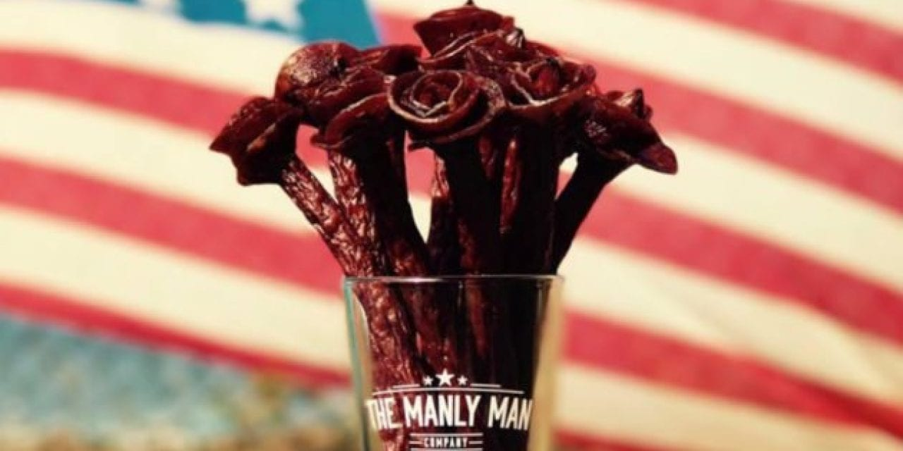 Beef Jerky Flowers: A Valentine's Gift Any Guy Will Appreciate