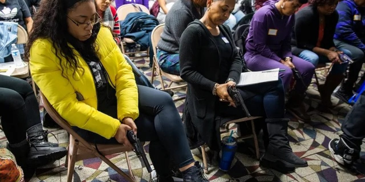CINCINNATI WOMEN ATTENDING CCW CLASS RE-DEFINE 'WOKE,' SAYS CCRKBA