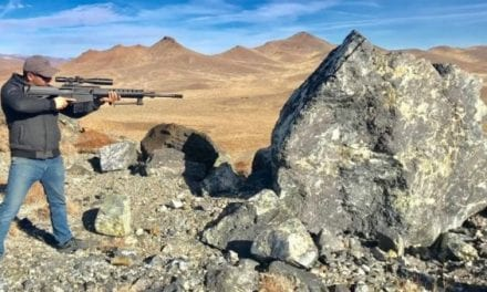 Man Shoots Giant Rock With .50 Cal Rifle