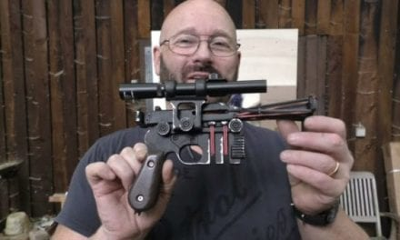 Slingshot Channel Guy Built a Replica of Han Solo's Blaster From Star Wars