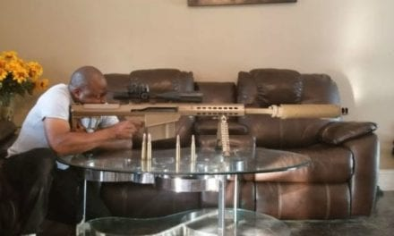 Man Shoots .50 Cal in His Living Room on a Glass Table