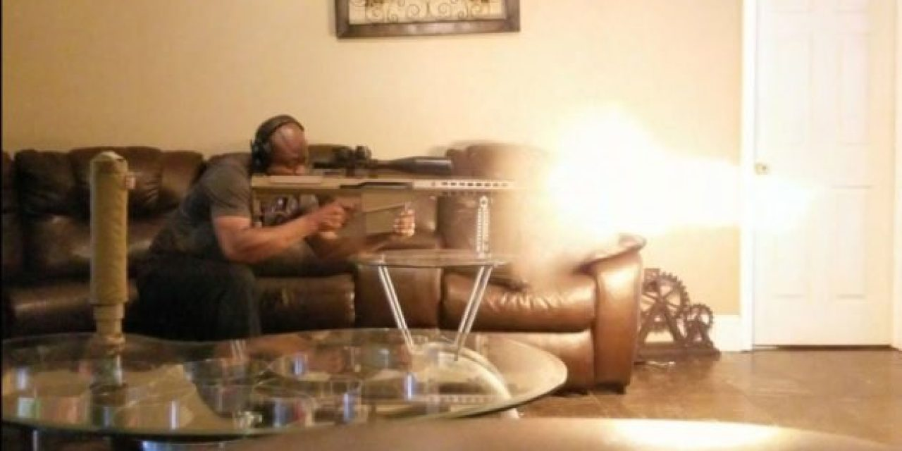 Man Shoots .50 Cal in Living Room Again, This Time With No Suppressor
