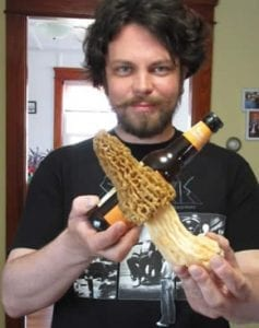 Ryan with a large Vermont yellow morel