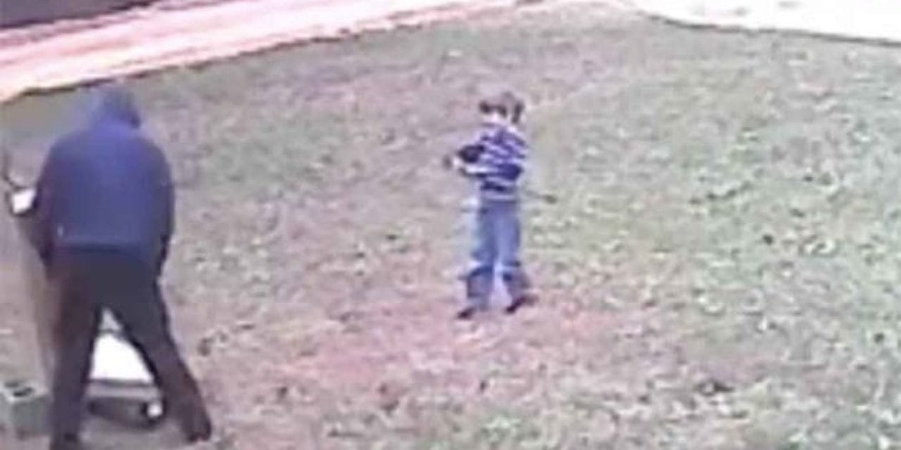 Archery Lesson Goes Wrong When Kid Inadvertently Takes Aim at His Dad
