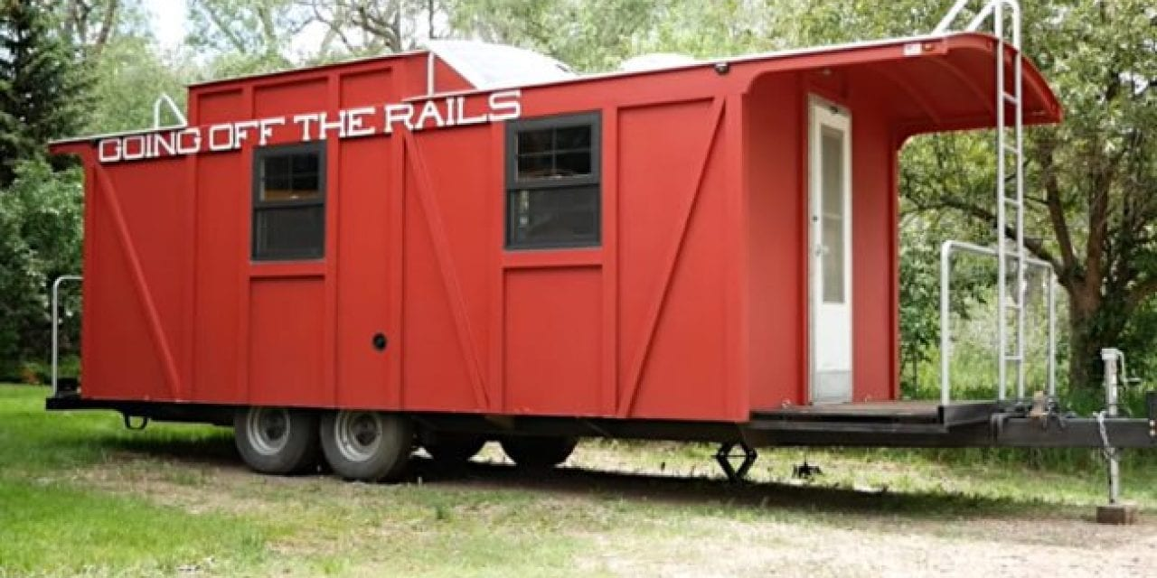 Man's Custom Caboose Camper Looks Just Like the Real Deal