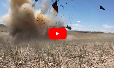 50 Pounds of Tannerite vs. Three Junked Cars Results in Awesome Explosion