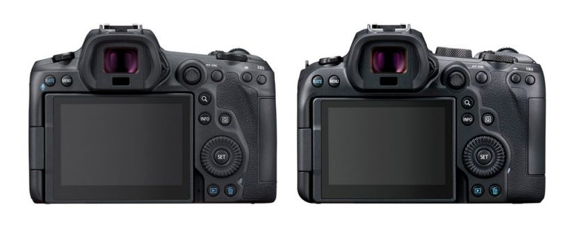 Image of the back of the Canon EOS R5 and EOS R6