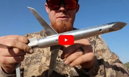 Homemade 8-Inch Expandable Broadhead is Devastating on Feral Hogs from a 40mm Cannon