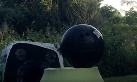 Man Attempts to Shoot Bowling Ball With Compound Bow