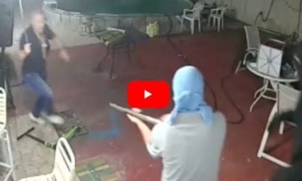 Man Drives Away 3 Armed Robbers with Machete in Wild Security Cam Footage
