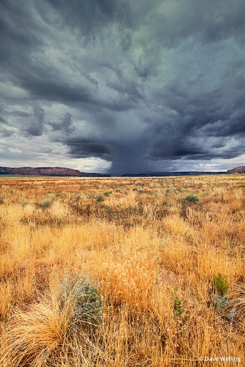 Monsoon photo of a storm cell over Kenab, Utah.