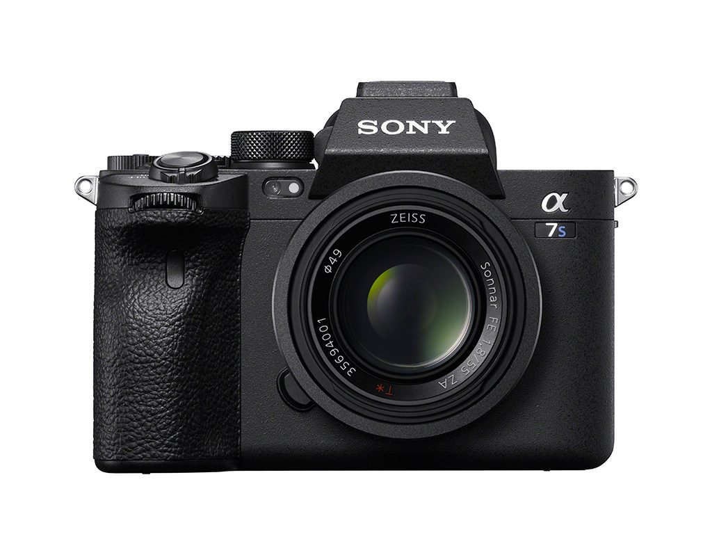 Image of the front of the Sony a7S III camera
