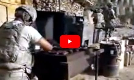 U.S. Troops Casually Keep Their BBQ Going Despite Firefight with the Taliban