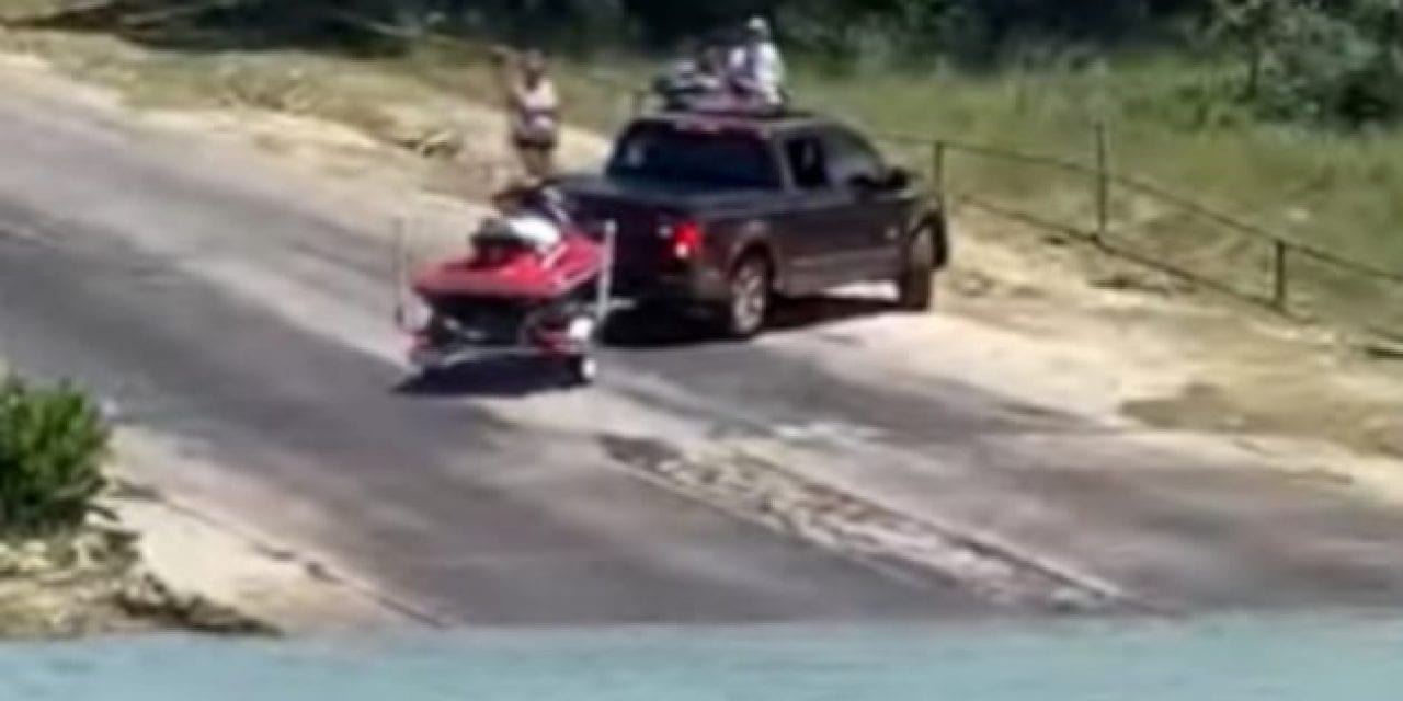 Driver's Hilarious Struggle to Back Up a Trailer Captured at Texas Boat Launch