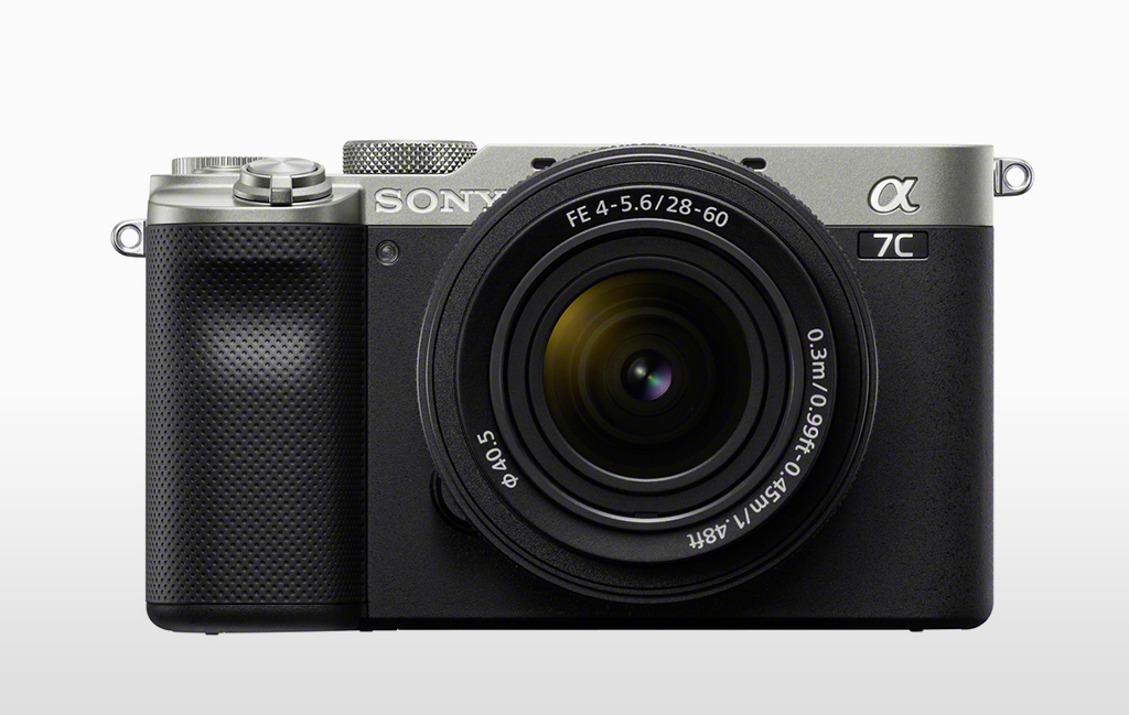 Image of the Sony a7C in the silver color option