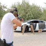 The Door of a Lamborghini Makes for Makes for One Seriously Expensive Shooting Target