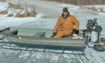 The Saw-Blade-Driven Ice Sled Machine is the Greatest DIY Project for the Winter