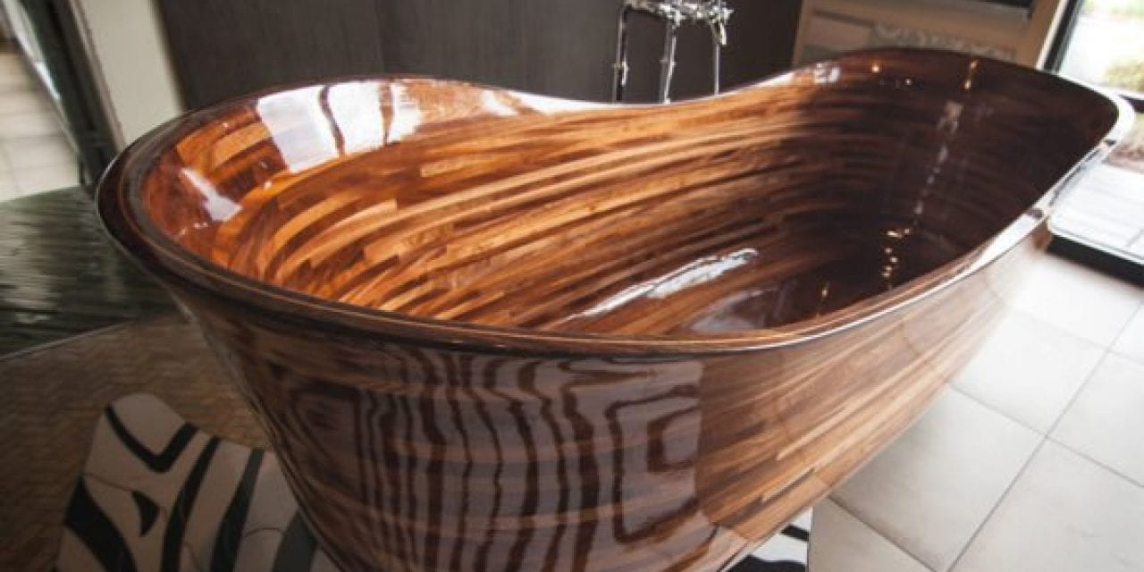 Wood Bathtubs Created By Seattle Woodworker Selling for $30,000 or More