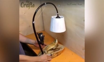 Check Out This Fast Motion Video of an Awesome Fishing Lamp Carved From a Chunk of Tree